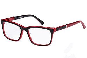Óculos de Grau Tigor T Tigre VTT069 C2/48 Preto/Vermelho