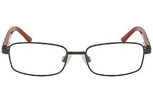 Óculos de Grau Tigor T Tigre VTT049 C3/47 Preto/Vermelho