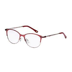 Óculos de Grau Lilica Ripilica VLR108 C02/48 Vermelho