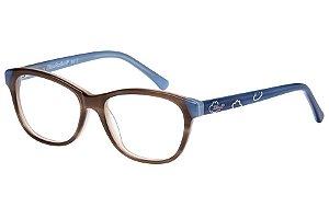 Óculos de Grau Lilica Ripilica VLR089 C4/48 Marrom/Azul