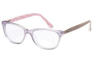 Óculos de Grau Lilica Ripilica VLR074 C3/48 Transparente/Bege/Rosa