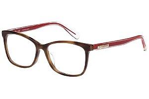 Óculos de Grau Victor Hugo VH1766 09AJ/53 Tartaruga/Vermelho