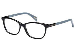 Óculos de Grau Victor Hugo VH1737 0700/53 Preto/Azul