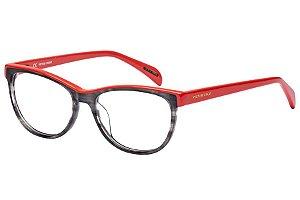 Óculos de Grau Victor Hugo VH1734 0AHU/52 Preto Mesclado/Vermelho