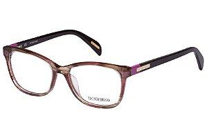 Óculos de Grau Victor Hugo VH1721 0MBP/52 Marrom Mesclado Transparente