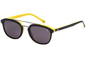 Óculos de Sol Tigor T Tigre STT080 C01/48 Preto/Amarelo