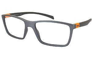 Óculos de Grau HB Polytech 93136/54 Grafite Detalhe Laranja