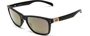 Óculos de Sol HB Gipps ll 9013800189/55 Preto Fosco Espelhado Gold