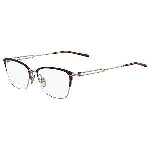 Óculos de Grau Calvin Klein CK8065 223/52 Marrom Fosco/Dourado