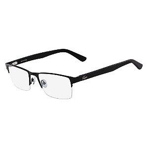 Óculos de Grau Lacoste L2237 002/55 Preto Fosco
