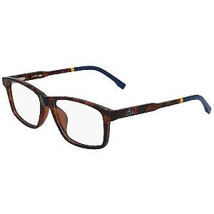 Óculos de Grau Lacoste L3637 214/49 - Marrom - Infantil