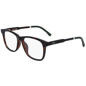 Óculos de Grau Lacoste L3635 214/49 - Marrom - Infantil