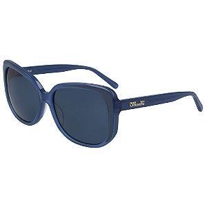 Óculos de Sol Diane Von Furstenberg DVF679S RAYNA 400/57 Azul - Retangular