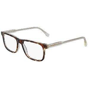 Óculos de Grau Lacoste L2852 218/55 - Marrom