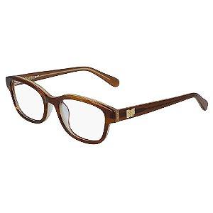 Óculos de Grau Diane Von Furstenberg DVF5120 210/51 Marrom - Quadrado