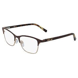 Óculos de Grau Diane Von Furstenberg DVF8073 210/50 Marrom - Quadrado
