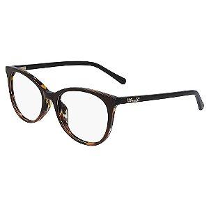 Óculos de Grau Diane Von Furstenberg DVF5121 210/52 Marrom - Redondo