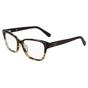 Óculos de Grau Diane Von Furstenberg DVF5116 250/53 Marrom - Retangular
