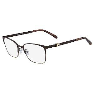 Óculos de Grau Diane Von Furstenberg DVF8058 210/53 Marrom - Retangular