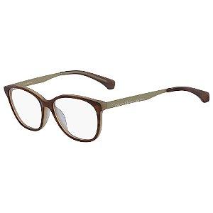 Óculos de Grau Calvin Klein Jeans CKJ481 244/53 - Marrom