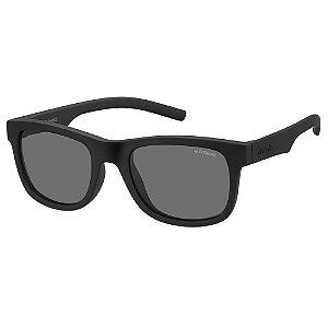 Óculos de Sol Polaroid Kids PLD 8020/S/46 Preto - Polarizado - Infantil