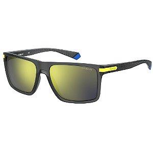 Óculos de Sol Polaroid PLD 2098/S/56 Cinza - Polarizado