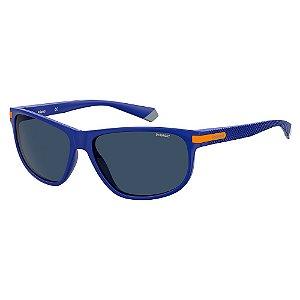 Óculos de Sol Polaroid PLD 2099/S/58 Azul - Polarizado