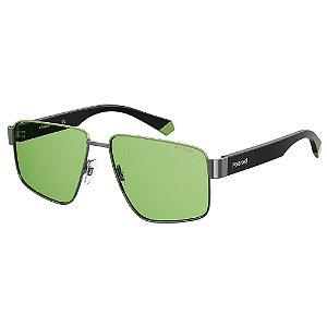 Óculos de Sol Polaroid PLD 6121/S/58 Verde - Polarizado