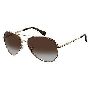 Óculos de Sol Polaroid PLD 6012/N/NEW/62 Marrom - Polarizado