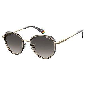 Óculos de Sol Polaroid PLD 6114/S/51 Dourado - Polarizado