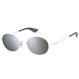 Óculos de Sol Polaroid PLD 6066/S/51 Branco - Polarizado