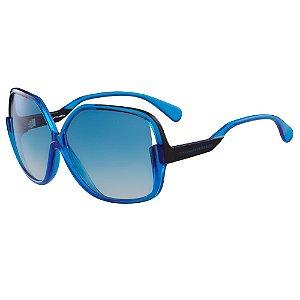 Óculos de Sol Diane Von Furstenberg DVF510S JAYDA 400/62 Azul - Quadrado