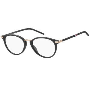 Óculos de Grau Tommy Hilfiger TH 1688/50 - Preto Fosco