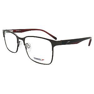 Óculos de Grau Speedo SP1376 02A - Grafite / Vermelho