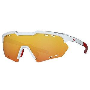 Óculos de Sol HB Shield Compact R - Branco / Vermelho