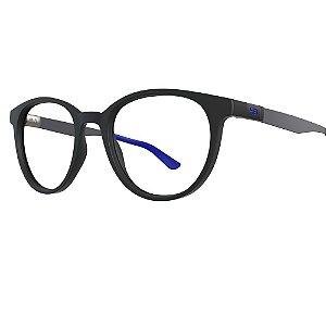 Óculos de Grau HB 0253 - Preto / Azul - Clip On Polarizado