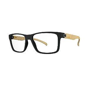Óculos de Grau HB 93108 - Preto / Madeira