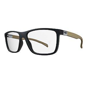 Óculos de Grau HB 93146 Teen - Preto / Madeira