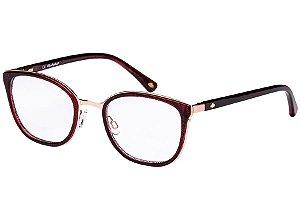 Óculos de Grau Lilica Ripilica VLR116C03/48 Marrom/Dourado