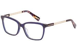 Óculos de Grau Victor Hugo VH1782 892/53 Azul/Dourado