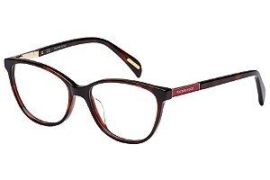 Óculos de Grau Victor Hugo VH1758 09AT/53 Marrom