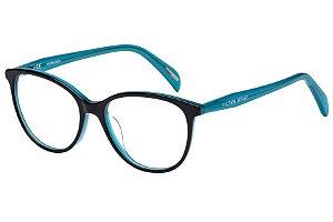 Óculos de Grau Victor Hugo VH1754 0AHV/52 Preto/Azul