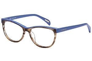 Óculos de Grau Victor Hugo VH1734 0GGU/52 Marrom Mesclado/Azul