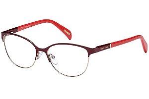 Óculos de Grau Victor Hugo VH1250 0H60/53 Bordô/Vermelho