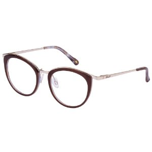 Óculos de Grau Lilica Ripilica VLR130 C04/49 Marrom
