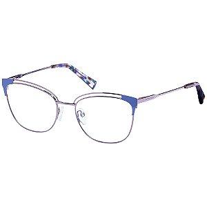 Óculos de Grau Victor Hugo VH1281 08T6/53 Azul