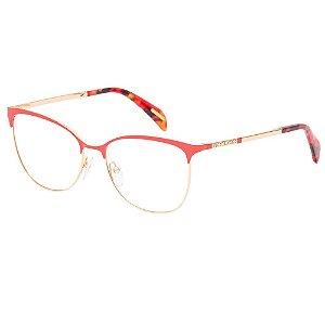 Óculos de Grau Victor Hugo VH1267 0SAH/55 Vermelho