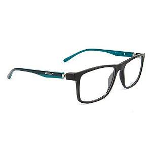 Óculos de Grau Speedo SP4051 A01/58 Preto/Verde Marinho