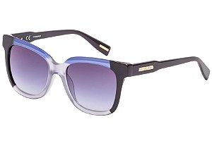 Óculos de Sol Victor Hugo SH1789 0J24/52 Azul/Transparente/Preto