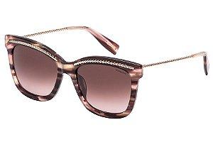 Óculos de Sol Victor Hugo SH1774 0D00/54 Marrom Mesclado